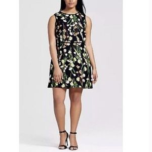 Victoria Beckham floral sleeveless dress 3X